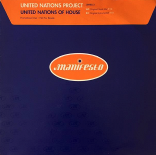 "United Nations Project ‎- United Nations Of House (12"") (Promo) (VG-/VG-)"